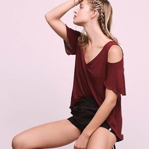 Free People | Bittersweet Cold Shoulder Top Size M